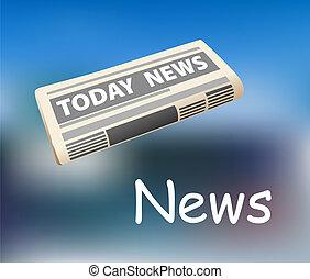 jornal, notícia, todays, ícone