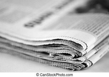 jornal, pilha