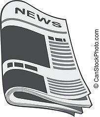 jornal, vector., ilustração