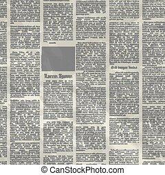 jornal, vetorial, antigas, texture., fundo