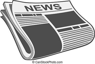 jornal, vetorial