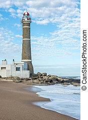 jose, 灯台, este, punta, ウルグアイ, ignacio, del, 大西洋沿岸