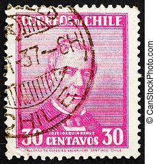 jose, 1934:, estampilla, perez, -, 1861, 1871, joaquin, chile, mascayano, impreso, chile, 1934, presidente, hacia, exposiciones