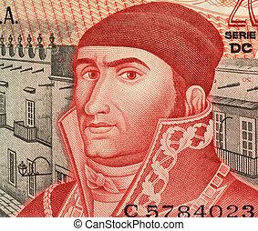 Jose Maria Morelos (1765-1815) on 20 Pesos 1977 Banknote...