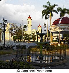 jose, parque, cienfuegos, marti, キューバ