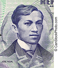 Jose Rizal on 1 Piso 1969 Banknote from Philipines....