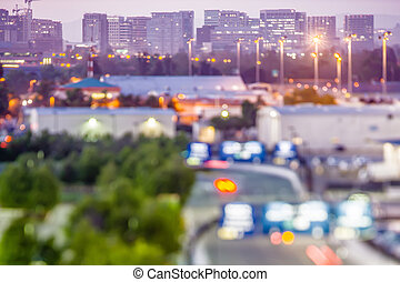 jose, san, 都市, 朝, 早く, ライト, カリフォルニア