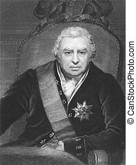 Joseph Banks (1743-1820) on engraving from the 1800s....