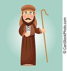 joseph, diseño, caricatura
