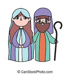 joseph, mangeoire, marie, nativity noël, saint, joyeux