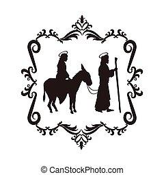 joseph maria holy family christmas design - joseph maria...
