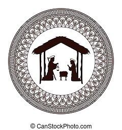 joseph mary holy family christmas design - joseph mary holy...