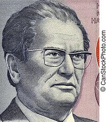 Josip Broz Tito (1892-1980) on 5000 Dinara 1985 Banknote...