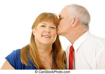 joue, baiser