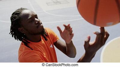 jouer, 4k, joueur, basket-ball