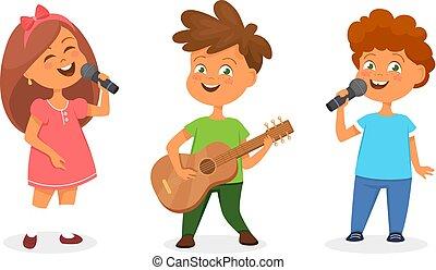 jouer, chant, enfants