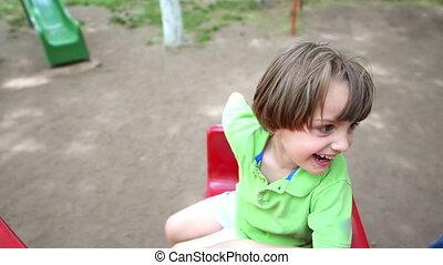 jouer, dans parc