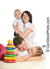 jouer, famille