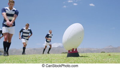 jouer, joueurs, champ rugby