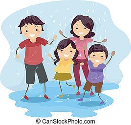 jouer, pluie