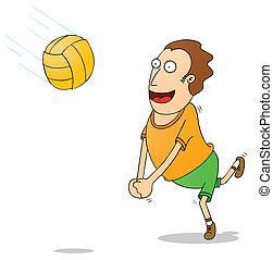 jouer, voleyball
