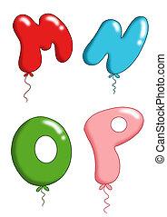 jouet alphabet, -, 14, ballons