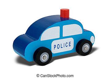 jouet, bois, surveiller voiture