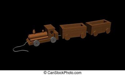 jouet bois, train