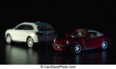 jouet, cars., effet, blanc rouge, levers de soleil