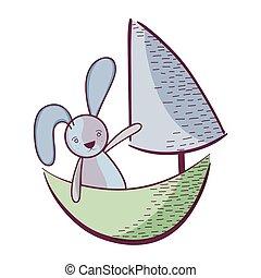 jouet, conception, bateau
