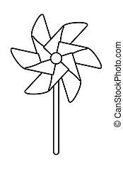 jouet, conception, pinwheel, vecteur, isolé