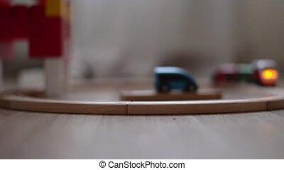 jouet, crèche, floor., chemin fer, train bois, salle jeux