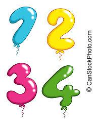 jouet, groupe, balloon, -, numéro 1, vous
