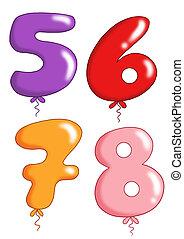 jouet, groupe, balloon, -, numéro 2, vous