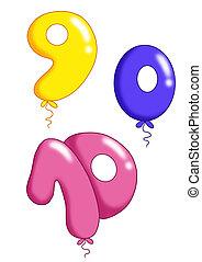 jouet, groupe, balloon, -, numéro 3, vous