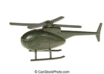 jouet, hélicoptère, militaire