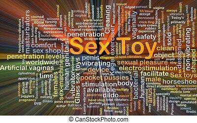 jouet, incandescent, concept, fond, sexe