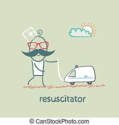 jouet, joué, resuscitator, ambulance