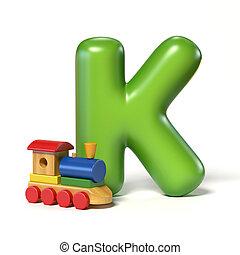 jouet, k, police, lettre