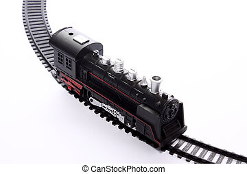 jouet, locomotive, rails