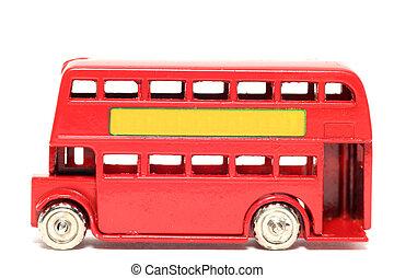 jouet, londres, vieux, autobus