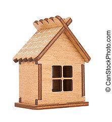 Peu Jouet Maison Bois Isole Bois Blanc Petite Maison Maison