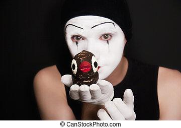 jouet, mime, oiseaux