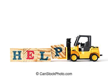 jouet, mot, complet, élévateur, p, fond, lettre, blanc, prise, bloc, aide