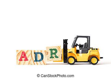 jouet, mot, complet, (abbreviation, élévateur, drogue, adverse, prise, bois, fond, lettre, adr, blanc, reaction), bloc