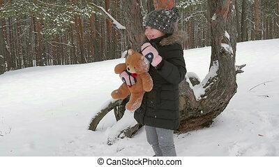 jouet, ours peluche, enfant joue, 96fps