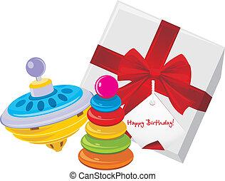jouet, pyramide, whirligig, cadeau