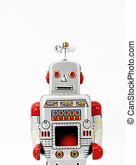 jouet, retro, robot