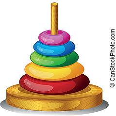 jouet, rond, coloré