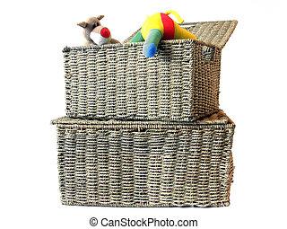 jouet, stockage, boîte, 1